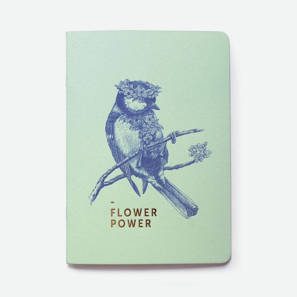 Carnet vert - Flower power