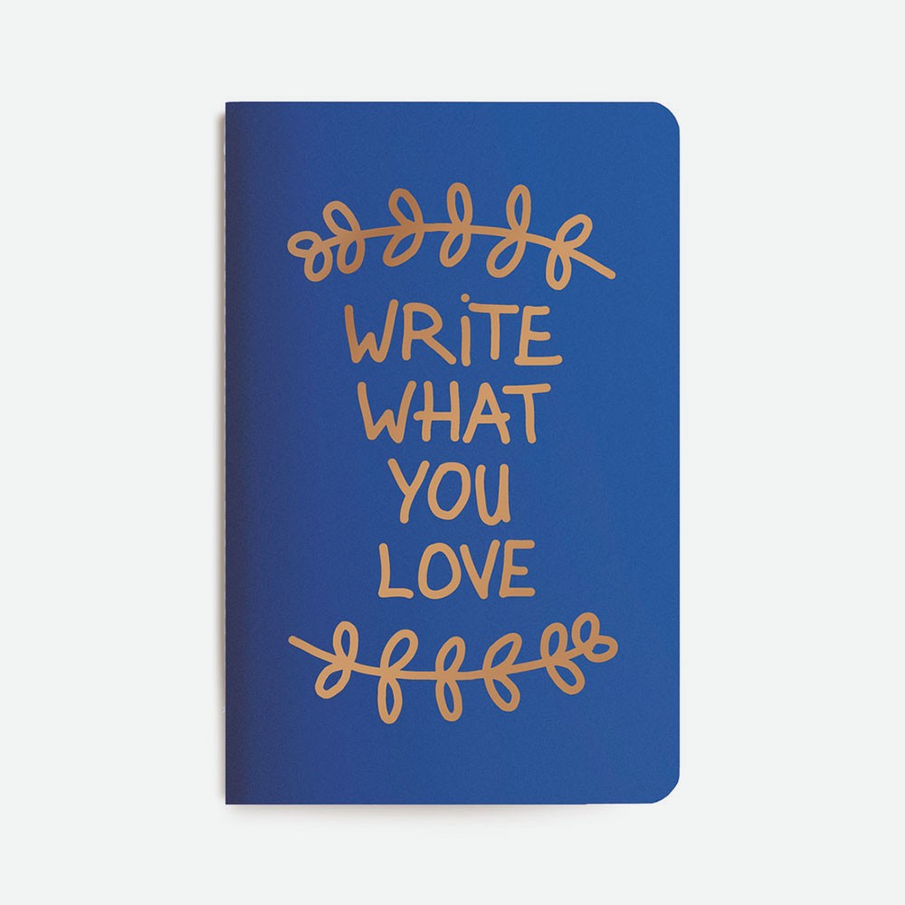 Carnet bleu write what you love